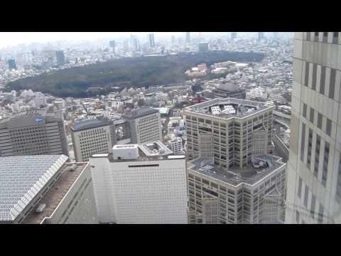 Japan trip December 2016 - View of Tokyo from Tokyo Metropolitan Office Observation Deck.