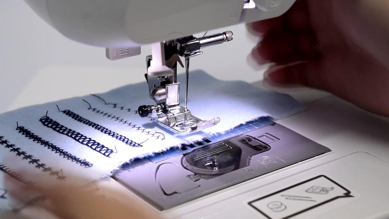 Швейная машина Brother Modern выполнение потайной строчки 1 - YouTube
