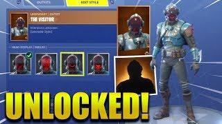 *NEW* BLOCKBUSTER UNLOCKED (The Visitor) Skin ! Fortnite Battle Royale