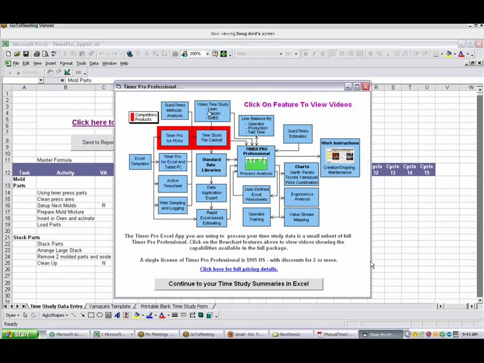 time motion study excel template  Time and Motion Study Template - YouTube