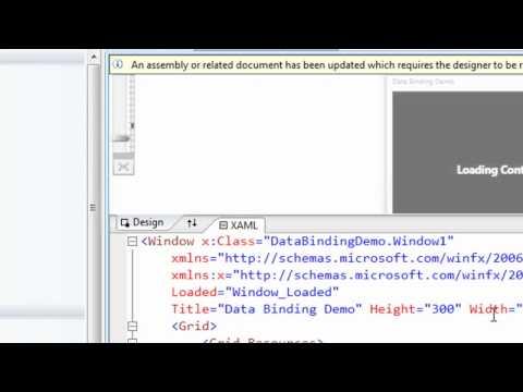 Data Binding with Windows Presenation Foundation