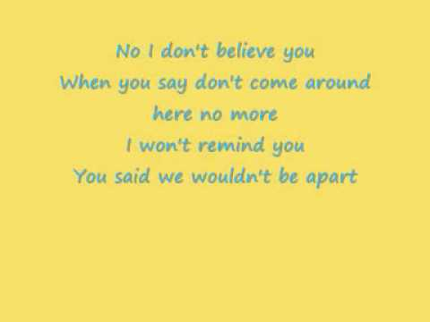 Pink I Dont Believe You Lyrics Youtube