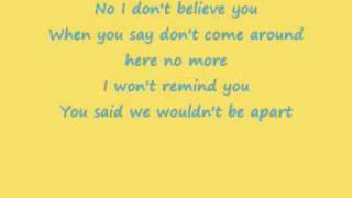 Pink - I don't believe you + Lyrics