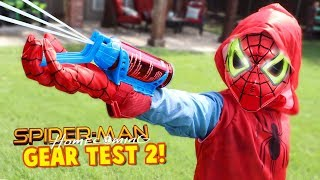 spider man homecoming movie gear test real web shooters for kids toys review by kidcity