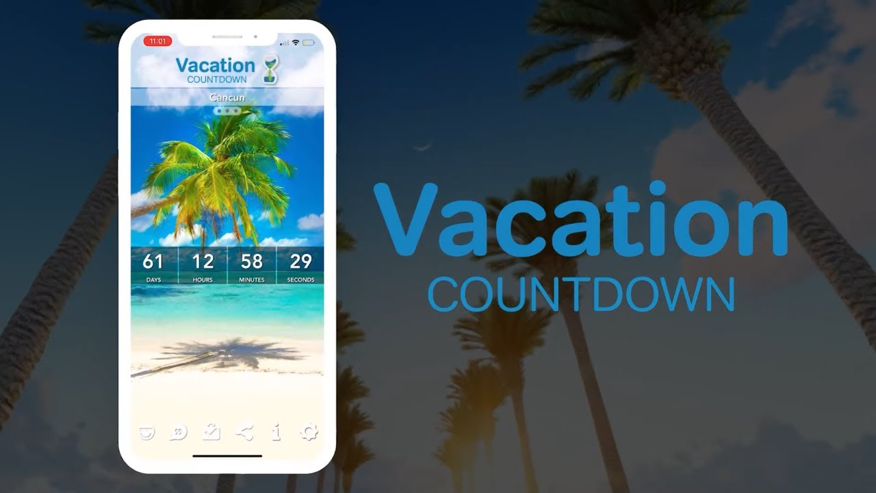 Vacation Countdown App FREE travel app for iOS and Android