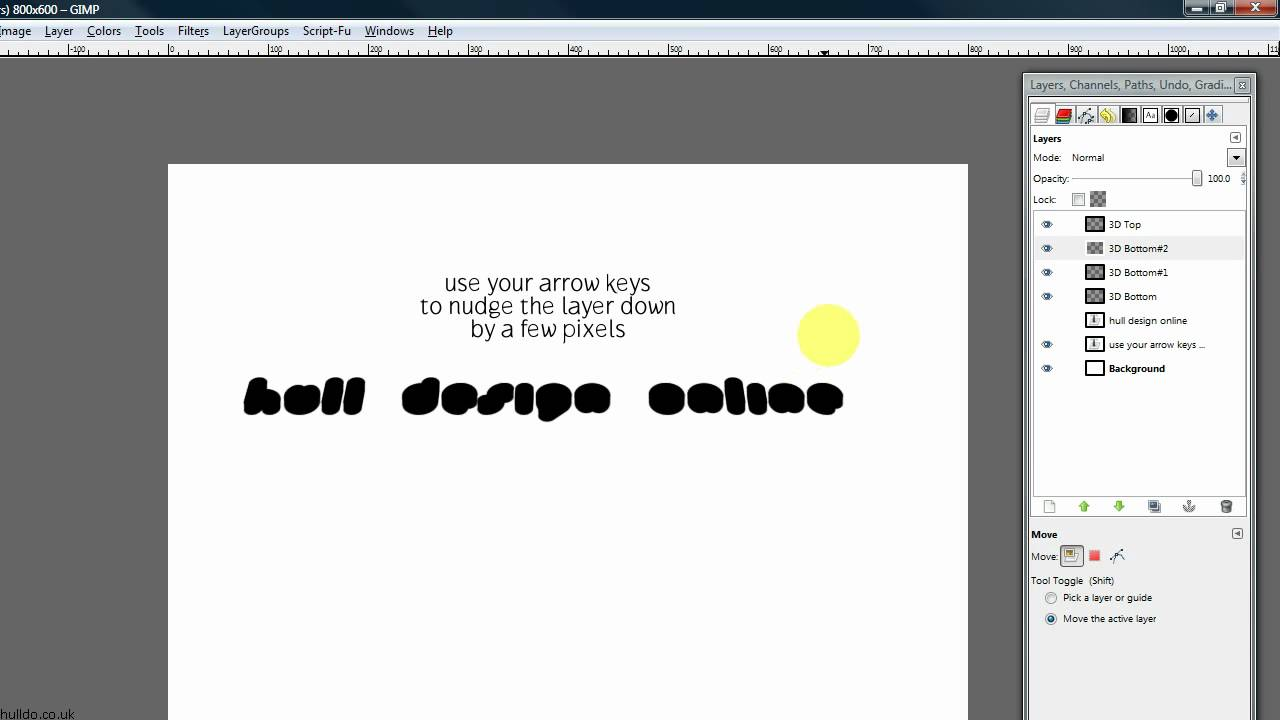 How to Create amazing 3D text in GIMP « Software Tips :: WonderHowTo