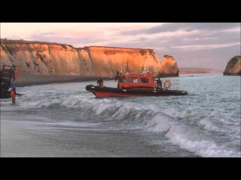 Lifeboat returning to Freshwater Bay Lifeboat Station, 13th May 2015