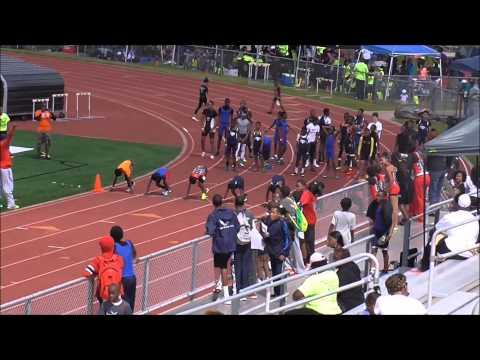 Xavier Carter Wings Track 100m Run