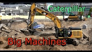 Caterpillar 349E Excavator- Volvo 210B steam shovel- Big Machines