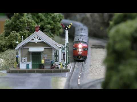 "N Scale Layout video update No. 13 – S.P. ""Cascades"" passenger train."
