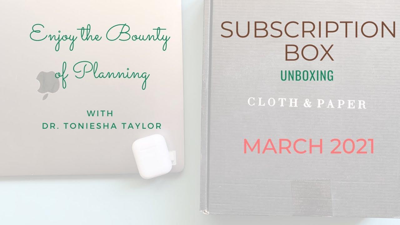Unboxing April Cloth & Paper Sub Box
