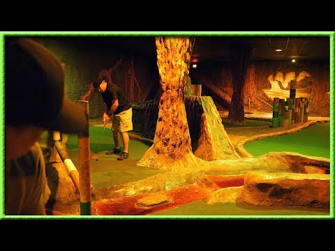 WHY IS THIS INDOOR MINI GOLF COURSE SO HARD?!