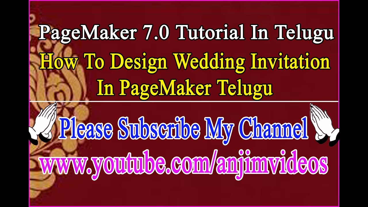 How to design wedding invitation in pagemaker 70 telugu for Wedding invitation images in telugu