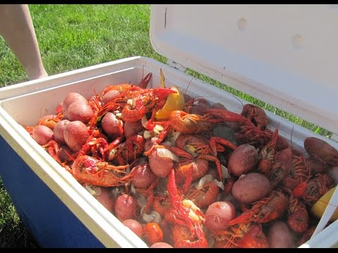 Our First Crawfish Boil And We Had A Blast.