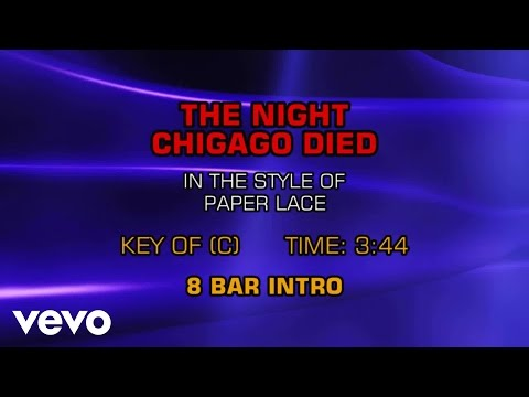 Paper Lace - The Night Chicago Died (Karaoke)
