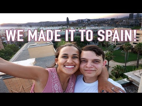 WE ALMOST GOT CAUGHT! | SPAIN | Travel vlog 1