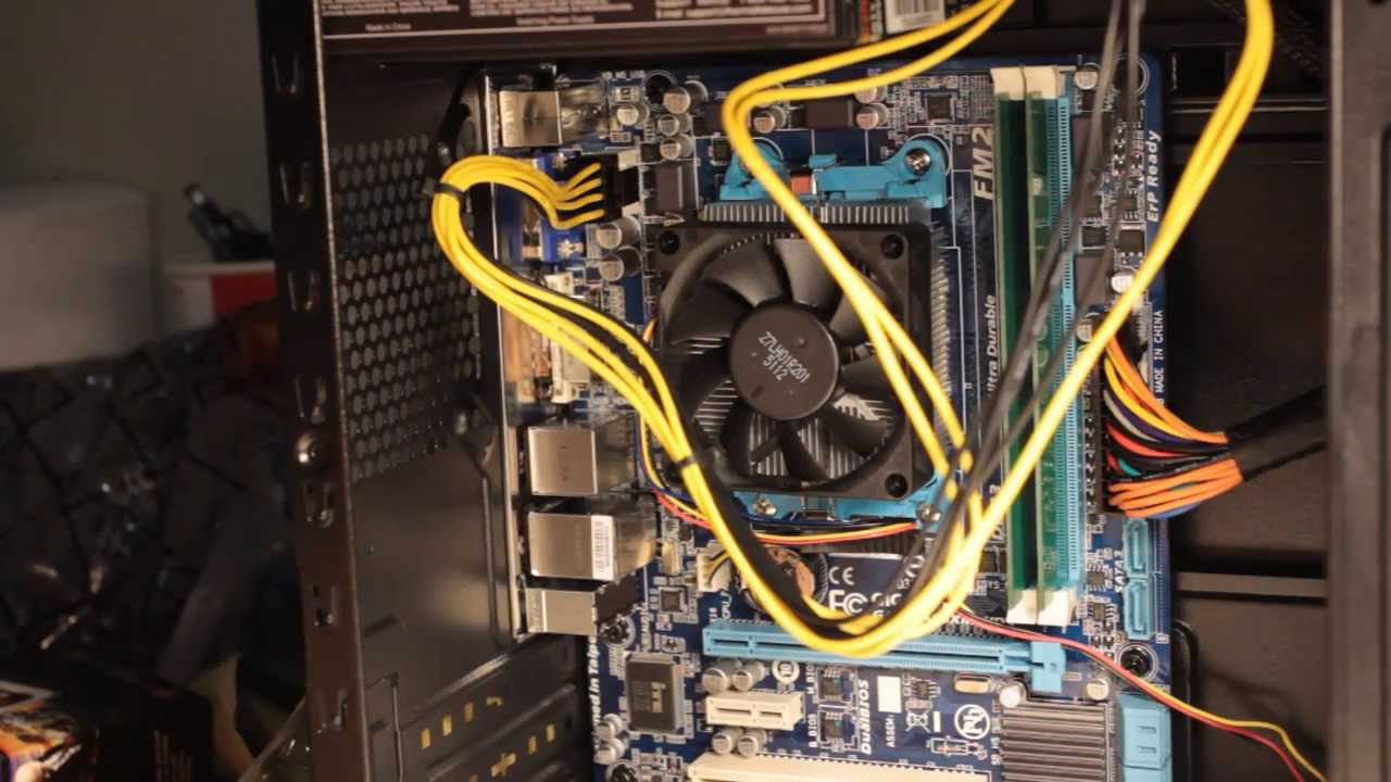 pc build guide motherboard installation and wiring youtube wiring a computer fan to 12 volts wiring a computer [ 1280 x 720 Pixel ]