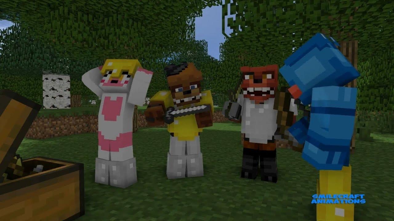 FNAF Vs Mobs The Hunger Games Full Parts Monster School Five - Minecraft school spielen