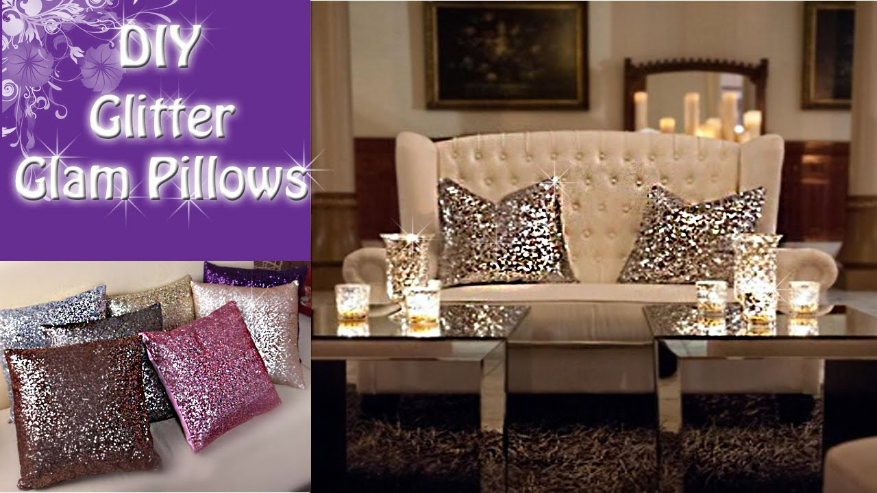 Diy Glitter Glam Pillows Youtube