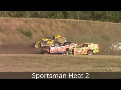 Genesee Speedway Sportsman Heat Races 8-6-16