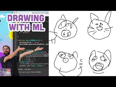 Coding Challenge #153: Interactive Drawing with Machine Learning Model (SketchRNN)
