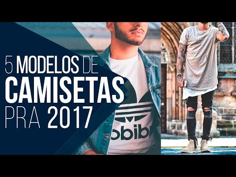 👕 CAMISETA MASCULINA: 5 Modelos pra 2017 - Tendências Masculinas #23 👕