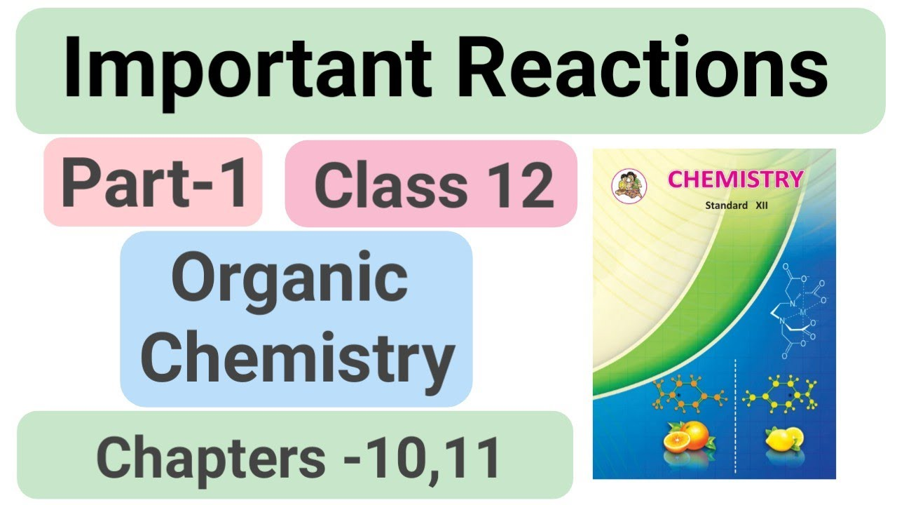 Organic chemistry || Important Reactions || class 12 maharashtra board || chapter 10 and 11 #nie