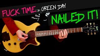 Fuck Time - Green Day cover by GV (exactly like the band pla
