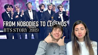 Reacting to BTS From Nobodies To Legends (2019)