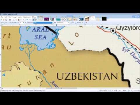 Speedart - flagmap of kazakhstan
