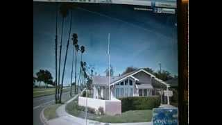 PAUL WALKER  HOUSE UFO OVNI OR  BLACK CROW FLYING CROSS OR DRONE OR UFO above his house s barbara
