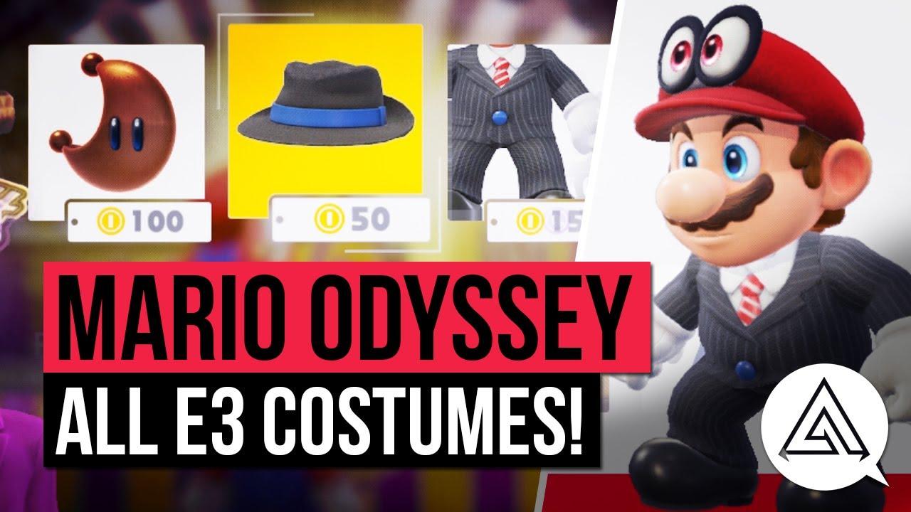 Super Mario Odyssey | ALL COSTUMES in the E3 Demo  sc 1 st  YouTube & Super Mario Odyssey | ALL COSTUMES in the E3 Demo - YouTube