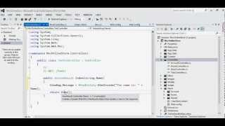 MVC C# Simple example how to pass parameters to Controller and display it in View