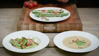 Сезон лисичек с BORK. Грибной суп, теплый салат, фаршированные цукини. Рецепты от Григория Мосина
