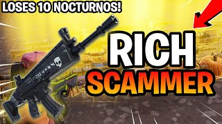 Rich Kid Loses 10 Nocturnos! (Scammer Gets Scammed) Fortnite Save The World
