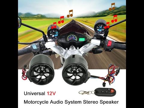 12V Universal Motorcycle 2 * 7W Waterproof Audio System Speaker