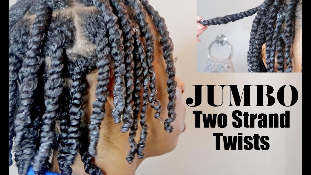 Jumbo Two Strand Twists On Dry Hair Natural Hairstyles Protective Hairstyles Youtube