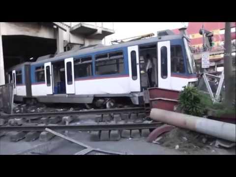 Scenes from a derailed MRT-3 train