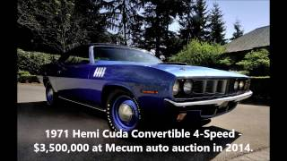Top Ten Most Expensive Muscle Cars