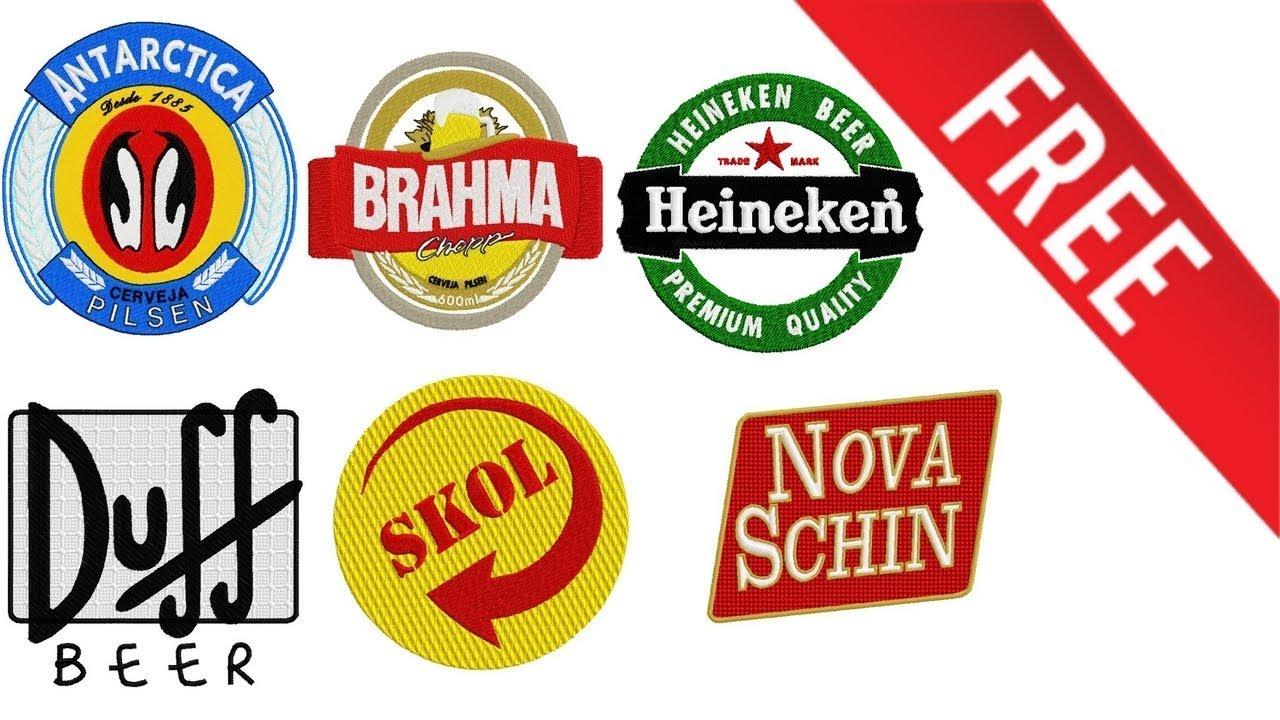 Matris Bordado Logos Cervejas 1 Gratis Youtube