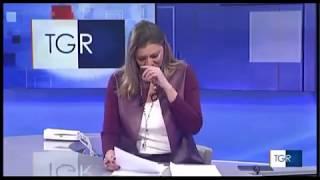 La giornalista della Rai si emoziona in diretta