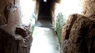 Inside Pont du Gard - 2000 year old Roman Aqueduct - France