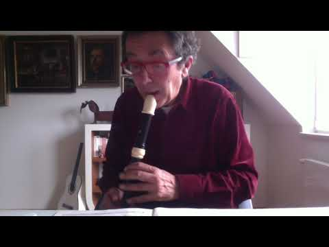 a new alto recorder by Zen On with Telemann Fantasia 10 in a moll