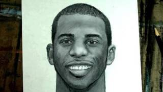 How to Draw Basketball Player Chris Paul Step by Step (Portrait)