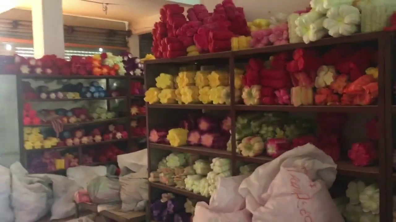 Secret Place In Yiwu China Silk Flowers Factories Street Youtube
