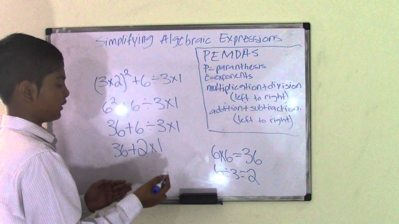 small resolution of 5th Grade Math Simplifying Algebraic Expression - YouTube