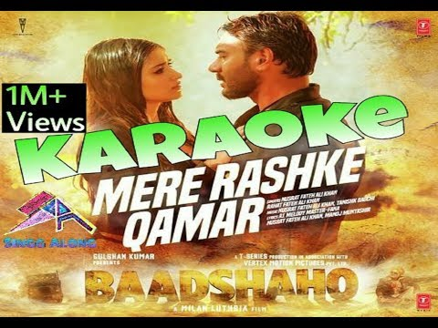 Mere Rashke Qamar Official, Junaid Asghar, Full Karaoke With Lyrics & Instrumental Song