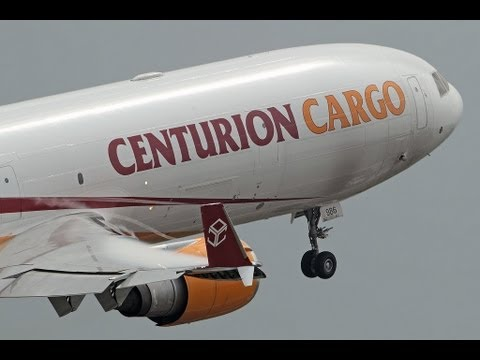 Centurion Cargo MD-11F Max Weight Takeoff at MIA