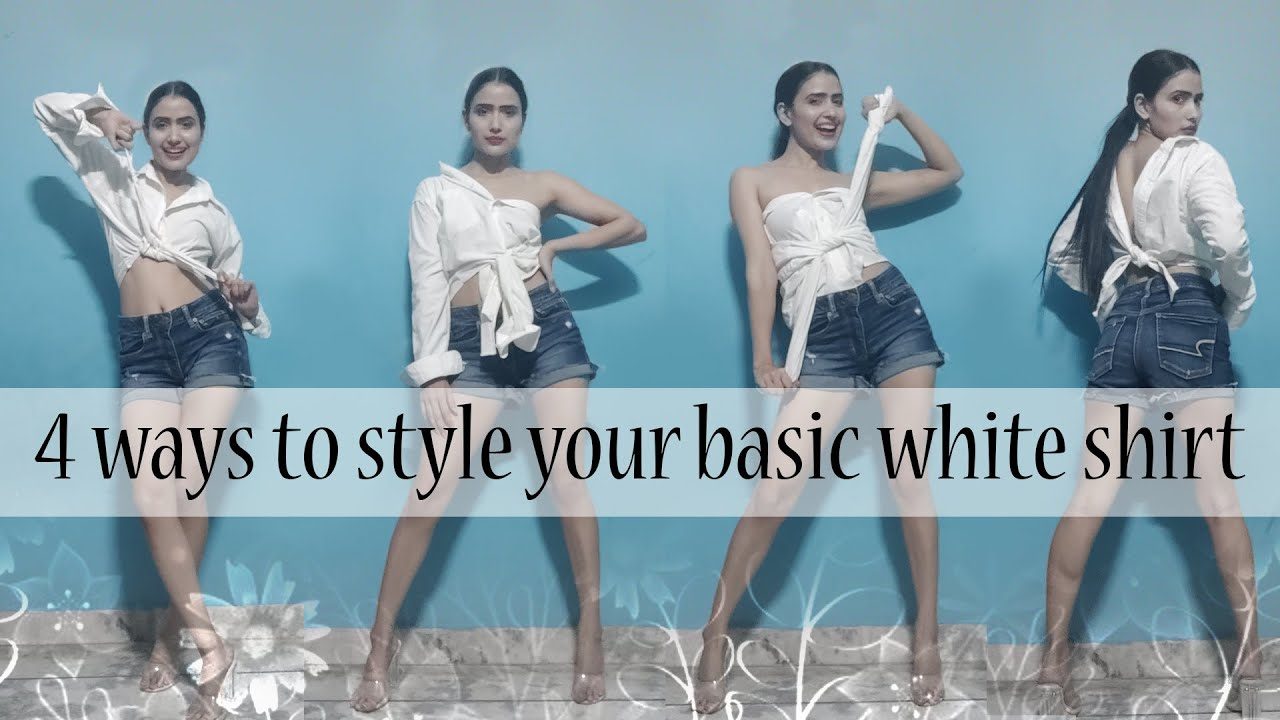 4 ways to style your basic white shirt