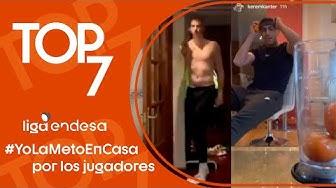 Top7 #YoLaMetoEnCasa de los jugadores de la Liga Endesa